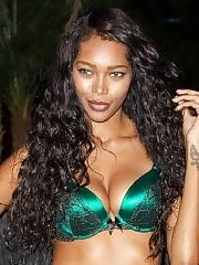 Jessica White arrived in underwear, stockings and wings to host a Halloween lingerie party in NYC