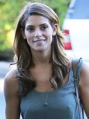 Ashley Greene leggy and see-thru to bra shows pokies while shoping in Beverly Hills