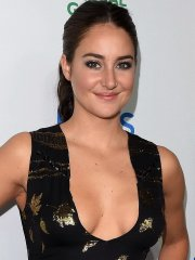 Shailene Woodley cleavy showing her big boobs at the Global Green Environmental Awards in LA