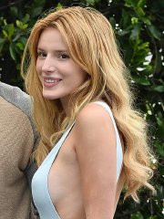 Bella Thorne braless showing pokies & side-boobs outside Cecconis restaurant in West Hollywood