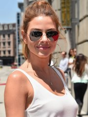 Maria Menounos looks hot in a tiny white top and shorts at Fast & Furious - Supercharged premiere in Universal City