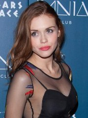 Holland Roden busty & braless wearing a partially see through dress at the Omnia Nightclub grand opening weekend in Las Vegas