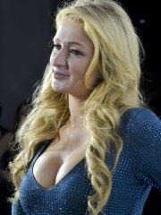 Paris Hilton showing huge cleavage at Wall Lounge during Art Basel in Miami Beach