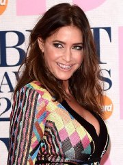 Lisa Snowdon leggy and cleavy at the BRIT Awards 2015 in London