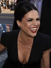 Lana Parrilla showing huge cleavage at 'Once Upon a Time' season 4 screening in Hollywood