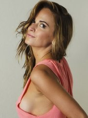 Jena Sims fully nude under a pink top and in black thong lingerie for Me in My Place 2014 photoshoot