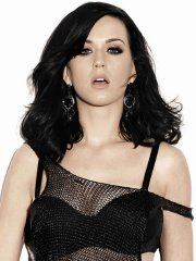 Katy Perry busty in tiny black lingerie & see-thru outfit for Maxim Magazine PS