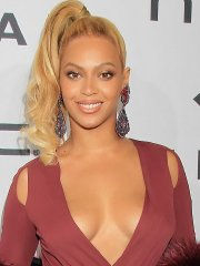 Beyonce Knowles braless showing huge cleavage for TIDAL X 1020 Amplified by HTC in Brooklyn