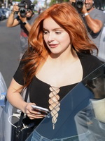 Ariel Winter braless showing huge cleavage outside the Nine Zero One salon in West Hollywood