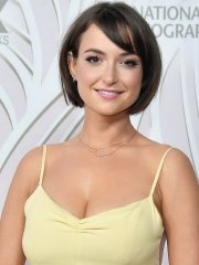 Milana Vayntrub flaunting her huge boobs at Fox & NGC 69th Primetime Emmy Awards After Party in LA