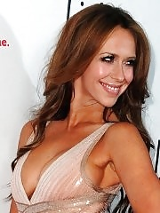 Jennifer Love Hewitt showing huge cleavage at 'The Client List' new session photocall