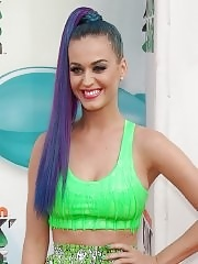 Katy Perry looking very hot in short skirt and top at Nickelodeon's 25th Annual Kids Choice Awards