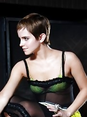 Emma Watson see-through to bra photoshoot for Women's Wear Daily
