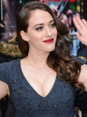 Kat Dennings showing huge cleavage at the 'Late Show With David Letterman' in NYC