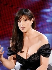 Monica Bellucci showing enormous cleavage at 61th Sanremo Song Festival