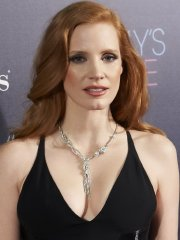 Jessica Chastain busty showing huge cleavage at the Molly's Game premiere in Madrid