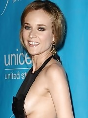 Diane Kruger shows side boob wearing black dress at the 2011 UNICEF Ball in Los Angeles
