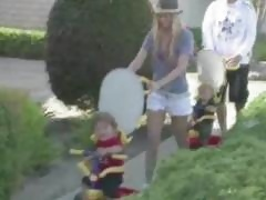 Jenna Jameson and Tito Ortiz out and about with their kids