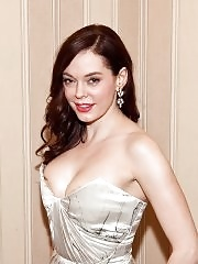Rose McGowan showing massive cleavage in strapless dress at USO Gala in Washington DC