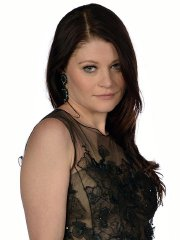 Emilie de Ravin wearing a black lace dress at 'Once Upon a Time' season 4 screening photocall & portraits