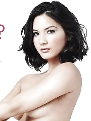 Olivia Munn fully nude but hiding for the new PETA ad campaign