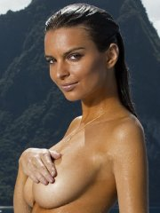 Emily Ratajkowski fully naked but body-painted in Sports Illustrated 2014 Swimsuit Issue