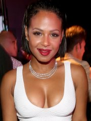Christina Milian busty shows huge cleavage at Latina Hot List Party in West Hollywood