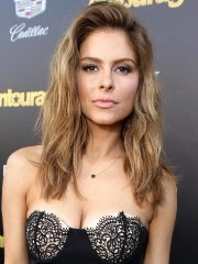 Maria Menounos busty wearing a strapless black dress at the 'Entourage' premiere in Westwood