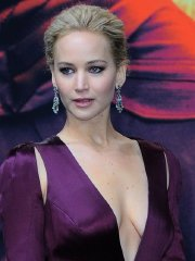Jennifer Lawrence braless showing huge cleavage at The Hunger Games Mockingjay Part 2 premiere in Berlin The Hunger Games Mockingjay Part 2 premiere in Berlin