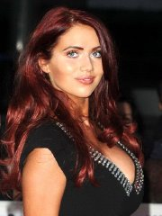 Amy Childs showing huge cleavage at MOBO Awards in London