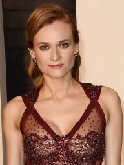 Diane Kruger see-through to nipples and ass at the 2016 Vanity Fair Oscar Party