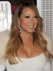 Mariah Carey showing huge cleavage at The Empire State Building 20th Annual Valentine's Day Weddings Event