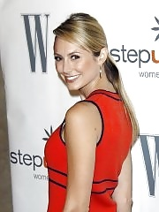Stacy Keibler leggy wearing red mini dress at Step Up Women's Network 7th Annual Inspiration Awards