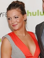 Katie Cassidy showing cleavage at the 'Arrow' PaleyFest 2013 in Beverly Hills