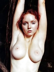 Lily Cole fully nude showing her hairy pussy for the Paradise Magazine back in 2007