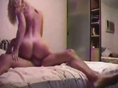 Jimena Perini straddles her man's cock riding him up and down to orgasm