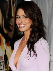 Sarah Shahi showing cleavage at the 'Bullet to the Head' premiere in NYC