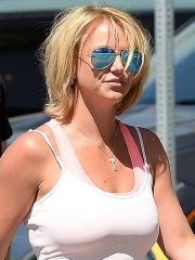 Britney Spears wearing tight sports outfit out in Los Angeles