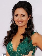 Danica McKellar showing cleavage at the 2014 American Music Awards in Los Angeles