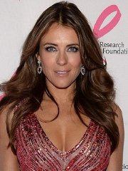 Elizabeth Hurley showing huge cleavage at the 2013 Hot Pink Party in NYC