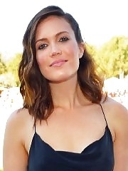 Mandy Moore showing big cleavage in a black maxi dress at Veuve Clicquot Polo Classic