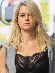Alice Eve see-through to bra while filming a commercial out in Beverly Hills