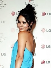Vanessa Hudgens leggy in mini dress at 'A Night of Fashion & Technology with LG Mobile Phones'