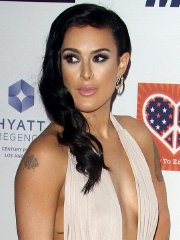 Rumer Willis braless wearing a bareback dress for the 22nd Annual Race To Erase MS Event at the Hyatt Regency Century Plaza in Century City