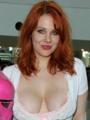 Maitland Ward see-through to hairy pussy and nipple-peek at the LA Convention Center