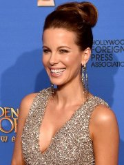 Kate Beckinsale showing huge cleavage at the Golden Globe Awards and The Weinstein Company & Netflix's GG After Party in Beverly Hills
