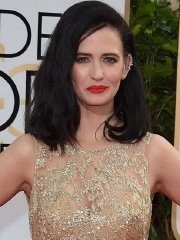 Eva Green see-through to nipples and boobs at 73rd Annual Golden Globes Awards