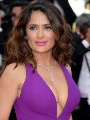 Salma Hayek showing huge cleavage at the 'Carol' screening in Cannes