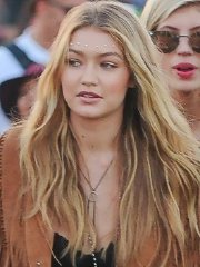 Gigi Hadid looks hot in shorts and belly top at Coachella Music Festival Day 2 in Indio