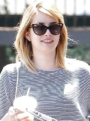 Emma Roberts leggy & shows ass wearing shorts out for lunch in Los Feliz